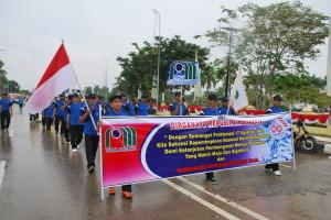 Karyawan PDAM Tirta Mahakam Ikuti Pawai Kemerdekaan