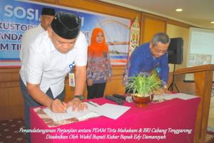 Penandatanganan Mou PDAM Tirta Mahakam & BRI Cabang Tenggarong